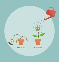 Water the positive sprout positive thinking concep vector