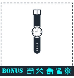 wristwatch icon flat vector image