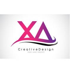 Xa x a letter logo design creative icon modern vector
