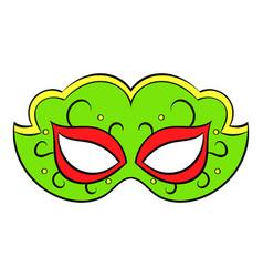 carnival mask icon cartoon vector image