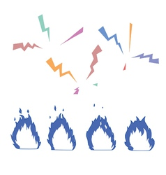 fire and lightning vector image