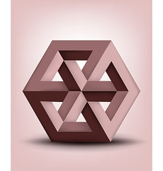 Impossible cube vector image vector image