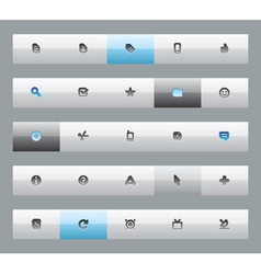 Interface buttons vector image