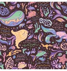 Marine life pattern vector image