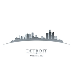 Detroit Michigan city skyline silhouette vector image vector image