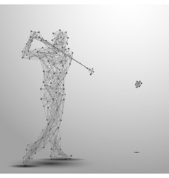 golfer poly gray vector image