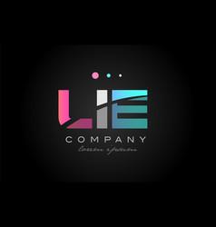 lie l i e three letter logo icon design vector image vector image
