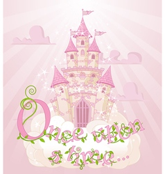 Once upon a time vector image vector image
