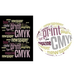 Printing Word Cloud vector image