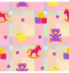 Seamless pattern with childrens toys vector