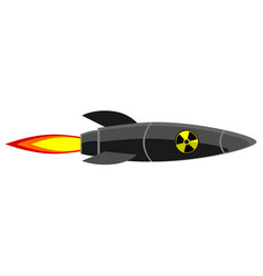 cartoon atomic rocket nuclear bomb vector image