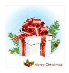 Chrristmas present gift box vector image