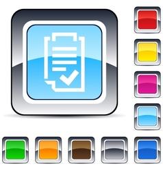 form square button vector image