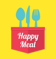 Happy Meal vector image