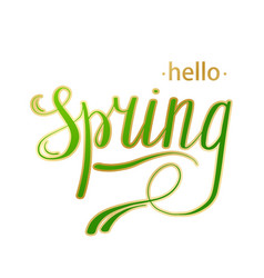 Hello spring abstract background design element vector