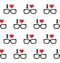 I love geeks glasses seamless pattern vector image vector image