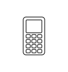 Mobile phone thin line icon vector image vector image