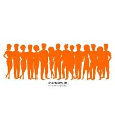 People background vector image vector image