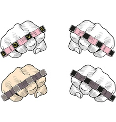Punch with knuckle vector