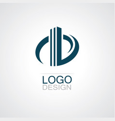 round building abstract logo vector image vector image