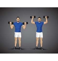 Training shoulder press trio vector