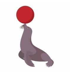 Circus sea lion cartoon vector image vector image