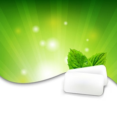 Green wall with mint gum vector