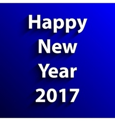 Happy New Year 2017 text design vector image vector image