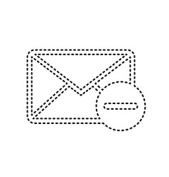 mail sign black dashed icon vector image