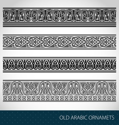 Seamless Islamic borders vector image vector image