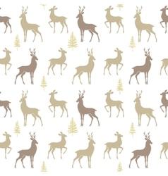 seamless pattern deer vector image vector image