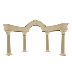 3d greek arch and column vector
