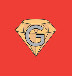 a diamond company logo with the letter g vector image