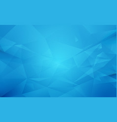 abstract blue polygon geometric background vector image