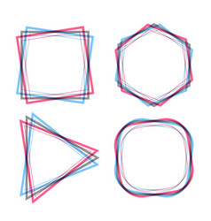 abstract geometric line frames set vector image