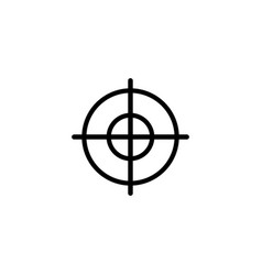 aim flat icon vector image