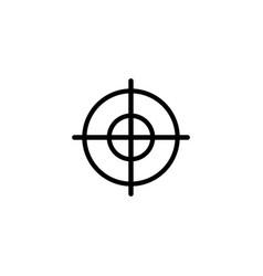 aim flat icon vector image