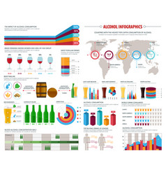 Alcohol consumption infographics template vector