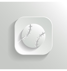 Baseball icon - white app button vector image