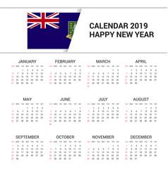 Calendar 2019 virgin islands uk flag background vector