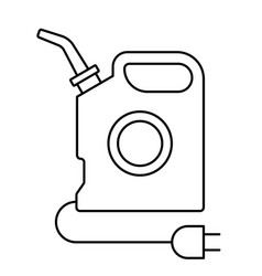 Canister oil white outlet vector