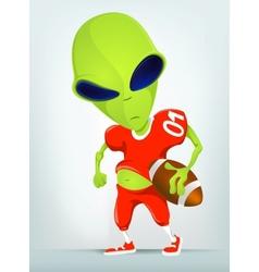 Cartoon alien Football vector image