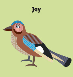 Cartoon jay vector