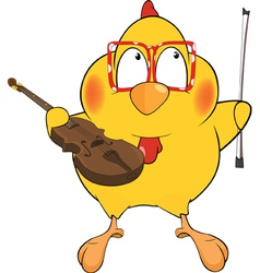 Chicken the violinist vector image