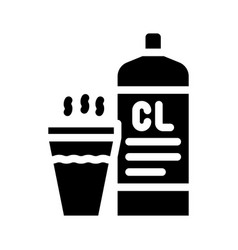 Chlorine smell glyph icon sign vector