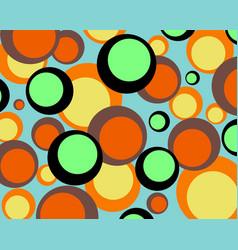 Circle bubbled retro color background vector