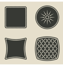 Cushion stylized icons set vector