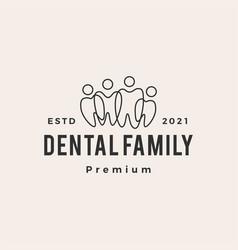 dental family community team hipster vintage logo vector image