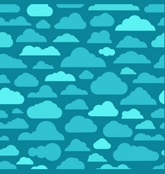different abstract cartoon clouds seamless pattern vector image