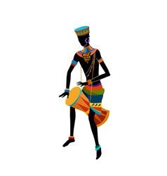 Ethnic dance african man vector